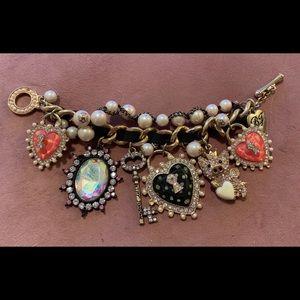 Betsey Johnson Charm Bracelet Flying Pig
